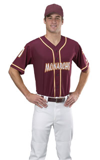 3 Stripe Piping Custom Sublimated Baseball Jersey