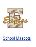 School Mascots Embroidery Clipart