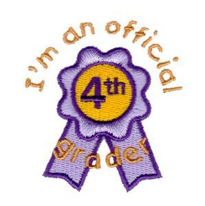 Official 4th Grader Embroidery Designs:CD072706TK