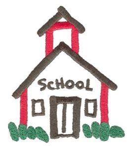 School house small - Custom Online Embroidery Design