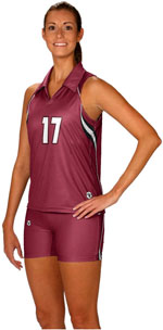 Ace full color sublimated volleyball jerseys