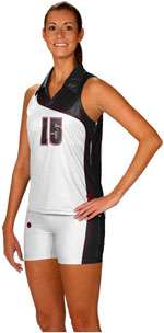 Cross court sublimated volleyball jerseys
