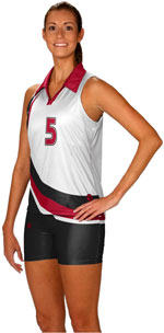 Quick set sublimated volleyball jerseys