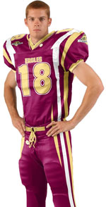 Curl Route Custom Sublimated Football Jersey