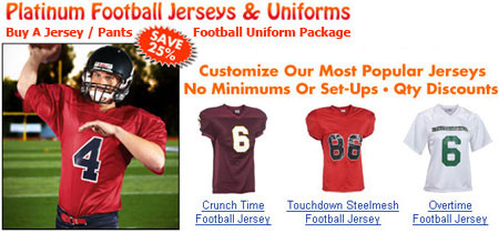 custom football uniforms and custom football jerseys